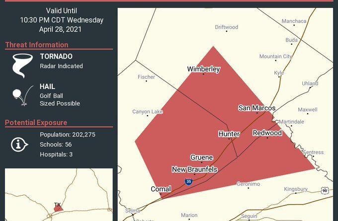 Tornado Watch continúa hasta las 5 a. M.