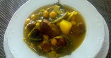Receta de Sopa de carne para el frío