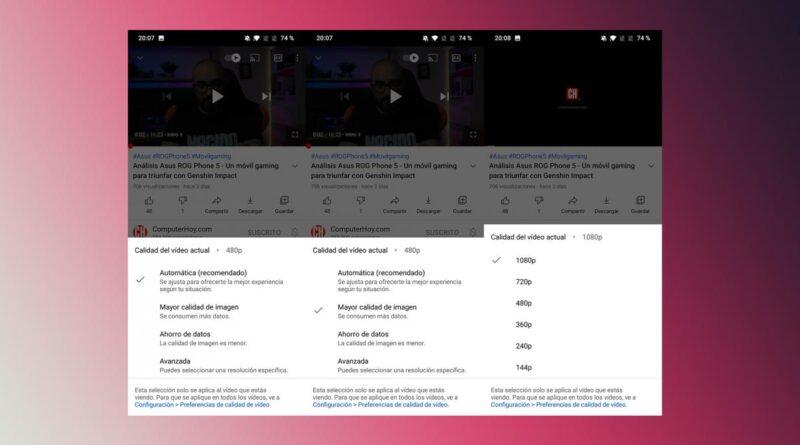 Ahorra datos en YouTube eligiendo la correctamente la calidad de reproducción por defecto