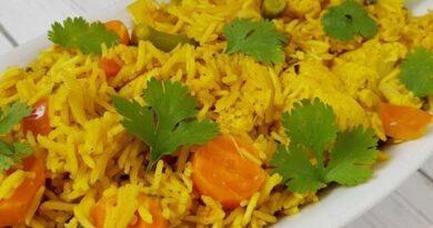 Receta de Arroz biryani con verduras