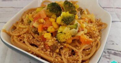 Receta de Pasta con verduras y leche de coco
