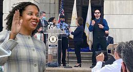 La ex concejala Sabina Matos se juramenta como primera vicegobernadora dominicana en EEUU prometiendo un sueño americano justo para todos