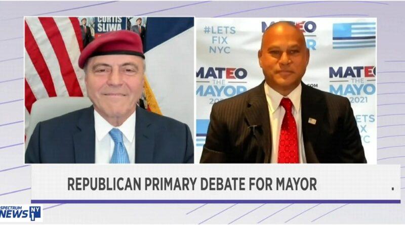Apagan micrófonos a Fernando Mateo y Curtis Sliwa por insultos y caos en debate republicano a la alcaldía