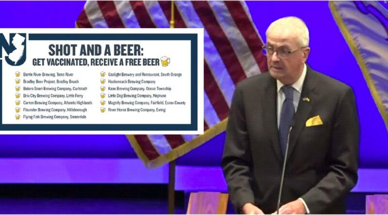 Gobernador de Nueva Jersey ofrece cervezas por vacunas COVID - 19 en trece cervecerías del estado