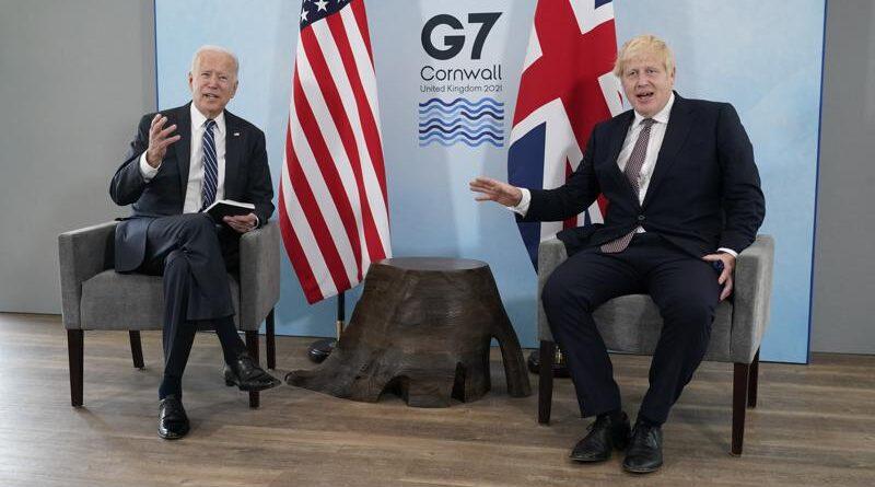 Biden y Johnson dan un tono cálido en su primer encuentro