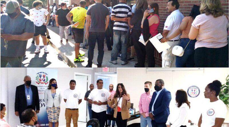 Docenas de dominicanos acuden a consulados móviles en Ohio donde obtuvieron pasaportes, cédulas y actas de nacimientos