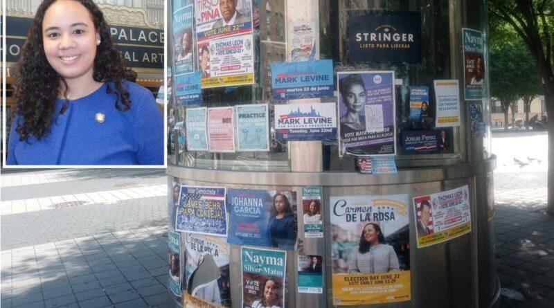 Masiva propaganda invade el Alto Manhattan a 14 días de primarias demócratas; de la Rosa confiada en triunfo en el distrito 10