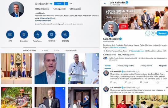 Redes sociales, el pilar en campaña de Abinader
