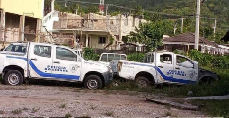 Unidades patrulleras de la Policía Nacional parecen anafes abandonados en Puerto Plata