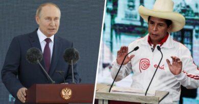 """Putin le desea """"éxito"""" al presidente electo de Perú y destaca """"relaciones amistosas"""" entre ambos países"""