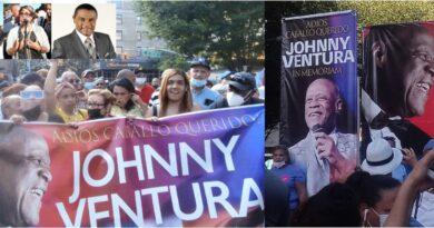 Espaillat, Jáquez, comisionada y El Canario resaltan legado de Johnny Ventura durante vigilia en el Alto Manhattan