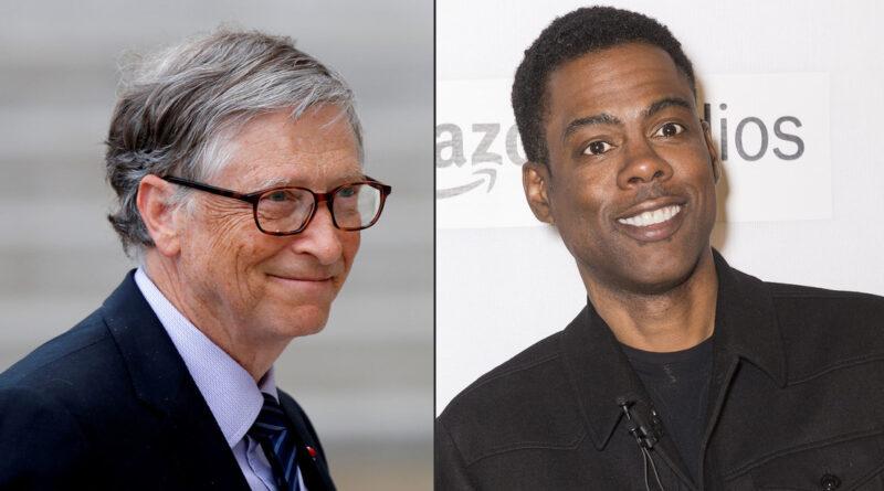 Graban a Bill Gates viendo al comediante Chris Rock búrlandose de él y su reacción a los insultos se vuelve viral