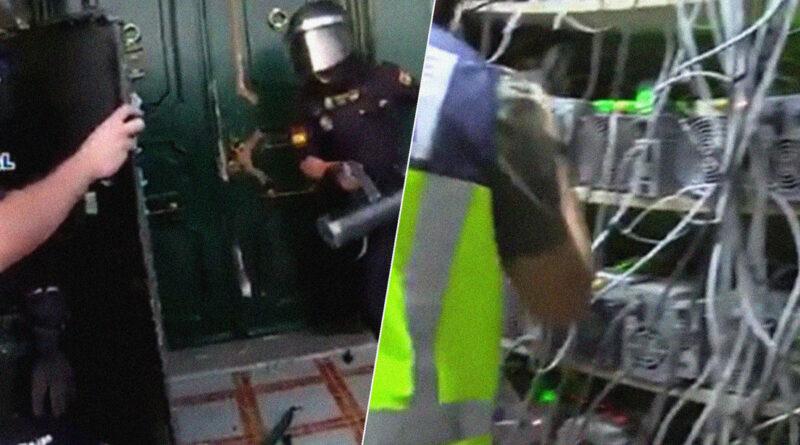 Policías irrumpen en una granja ilegal de minería de criptomonedas en España