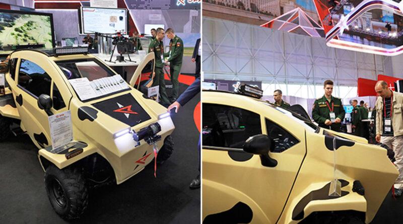 Presentan el primer vehículo eléctrico desarrollado para las Fuerzas Armadas rusas