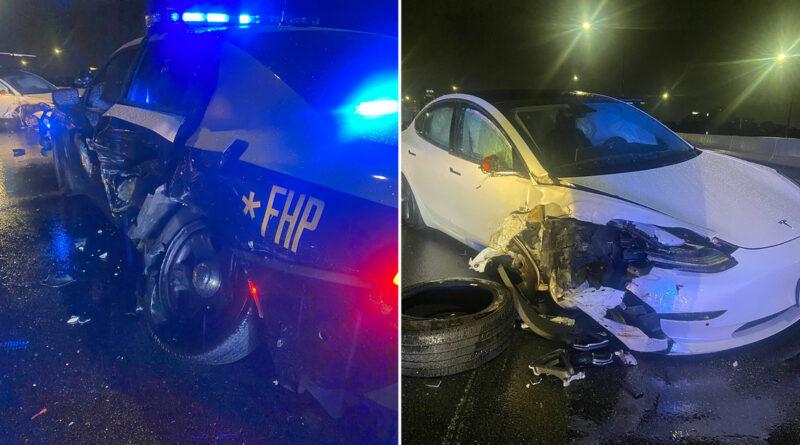 Un Tesla conducido en piloto automático se estrella contra una patrulla de Policía y un auto particular detenidos en una carretera en EE.UU.