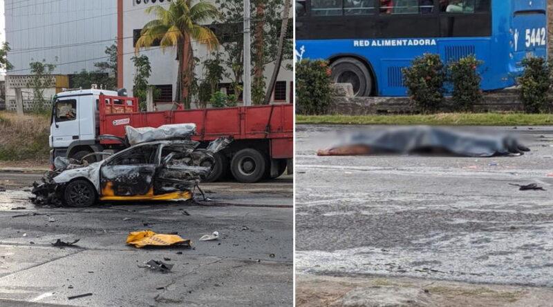 Un muerto y varios heridos al chocar un automóvil contra la terraza de un bar en España