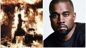 Kanye West se prende fuego en la presentación de su nuevo disco