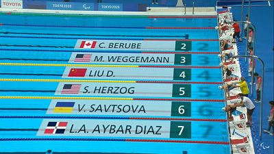 Alejandra Aybar culmina sexto en 100 metros pecho en Paralímpicos