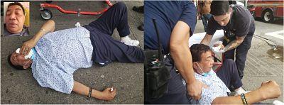 Reportero Manuel Ruiz de Telemicro Internacional sale de hospital después de caída y lesiones en calle del Alto Manhattan