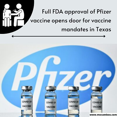 La aprobación total de la vacuna Pfizer por la FDA abre la puerta a los mandatos de vacunas en Texas