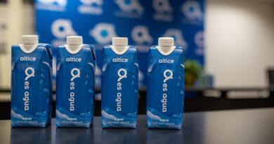 Altice usará agua en envase de cartón para reducir plástico en sus oficinas