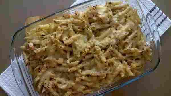 Receta de Macarrones con pollo y queso gorgonzola
