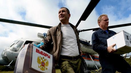 Según los primeros sondeos a pie de urna, el partido Rusia Unida habría obtenido un 45,2% de los votos en las elecciones legislativas rusas