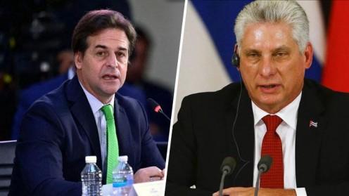 """No solo se enfrentó con Maduro: Presidente de Uruguay le recitó """"Patria y Vida"""" a Díaz-Canel de Cuba en Celac"""