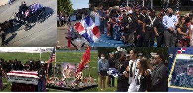 Mientras un carruaje con caballo llevaba el ataúd al cementerio multitudes dieron último adiós a la sargento Johanny Rosario