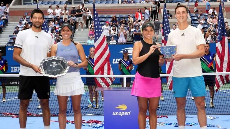 Una mexicana y un salvadoreño muy cerca de la gloria en el US Open