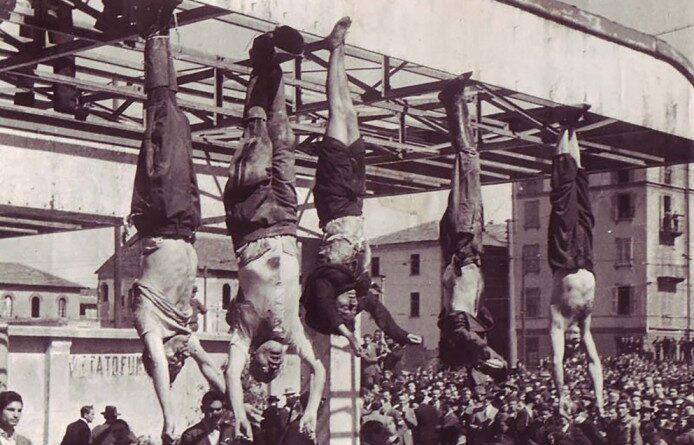 Mussolini y su amante colgados de los pies para humillarlos y el cadáver desmembrado que el olor nauseabundo delató