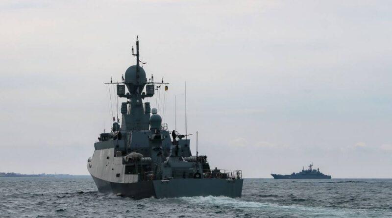 Un barco naval ucraniano se avería en el mar Negro